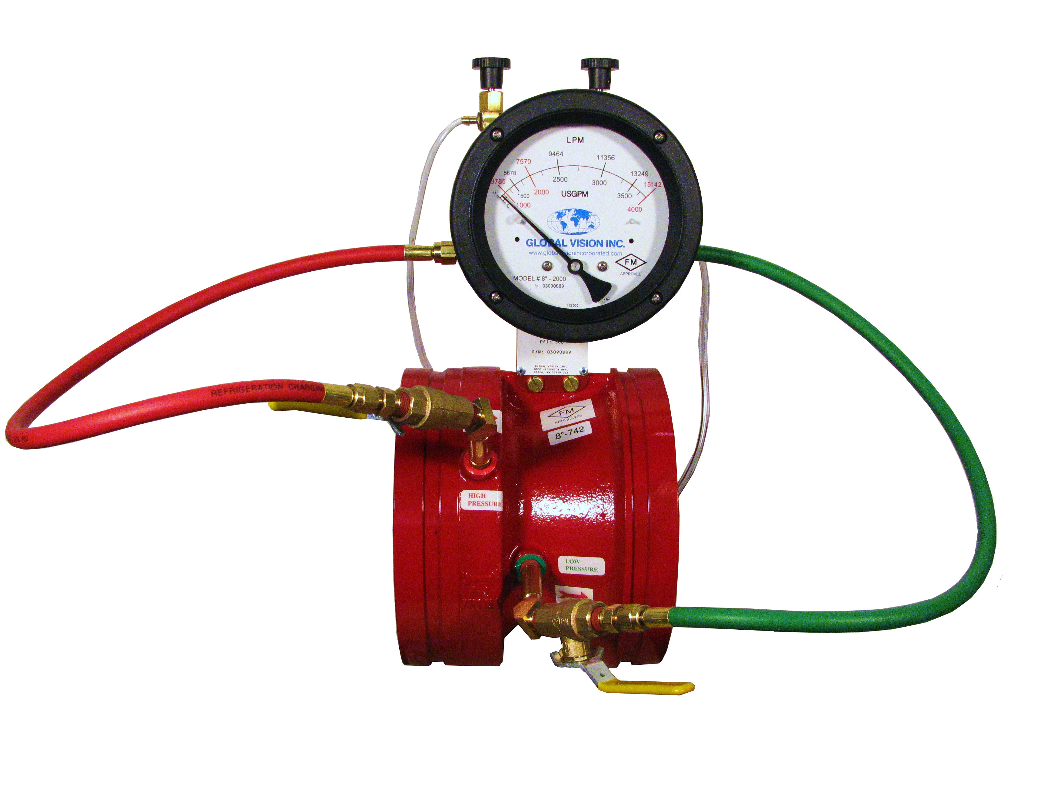 Global Vision Fire Pump Test Meters